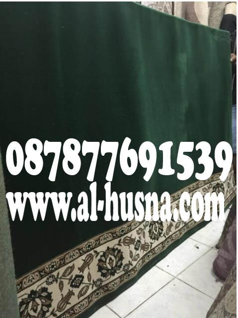 karpet masjid al shola hijau